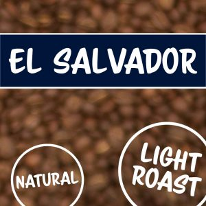 Kaffeebohnen mit El Salvador Schriftzug